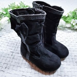 2/$20 Cat & Jack black faux suede toddler boots